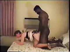 Woman Screams Trying To Take Big Black Cock While HusbandWatches