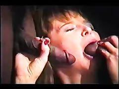 Video Only Of Brunette Having Gang Bang Sex