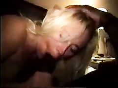 Blonde Married Milf Gangfucked and Used by Big Black Boys