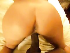 Unfaithful White Wife Loves a Long Black Cock Fuck Her Pussy