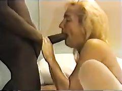 Mature Cuckold Sex Mature Blonde Wife Shared with Black Man