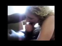Homemade Interracial Blowjob Video Blonde Slut Sucks BBC