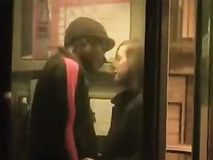 Cute Skinny British Girl Fucked by Black Stud in Public