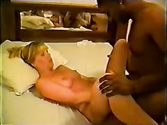 Vintage Interracial Sex Video Blonde Mom with Black Stud