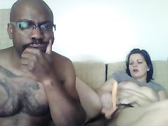 Webcam Video White Girlfriend Fucks Black Bf with Strapon