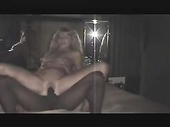 Drunk Blonde Wife in First Homemade Interracial Sex Video