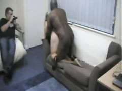 Chubby Wife Getting Fucked by Black Man in Front of Husband