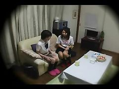 Kinky Asian Pussy Sucks Black Cock While Her Girlfriend Watches