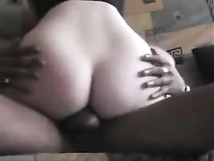 Black on French Wife She Rides Cock so Hard He Cums Inside Her