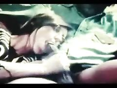 Interracial Vintage Video Brunette Girl Sucking and Fucking BBC