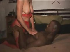 Black Man Having Frisky Sexy Time with Hot White MILF