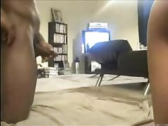 Hot White Blonde Girlfriend Screwing with Black Guy on Floor