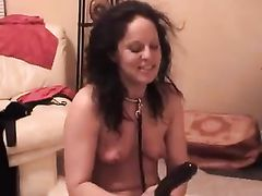 Mature White Wife is a Slave Used for Sex by Black Master