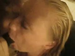 Cuckold Husband and Black Friend Getting Sucked by His Wife