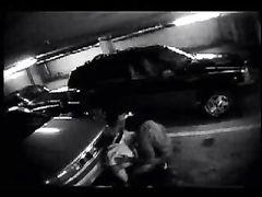 Hidden Camera in Car Parking Caught Interracial Couple Fucking