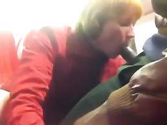 Voyeur Camera in Train Films Interracial Couple Fucking