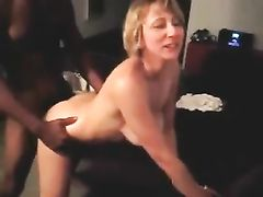 Blonde Wife Interracial Cuckold Sex with BBC in Doggystyle