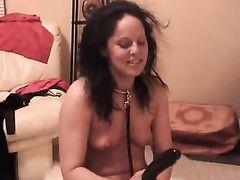 Submissive White Slut Deepthroats Black Cock
