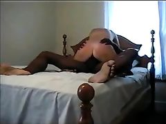 Hot Blonde Fucked by Black Stud While on Top of His Cock