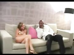 Blonde Woman Creampied by Black Man