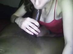 Sucking Black Cock and Making it Cum