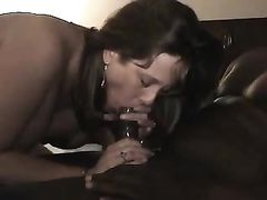 Filming a mature slut wife with black man making sex
