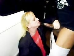 Mature Slut Opens Her Mouth Wife for the Big Black Cock