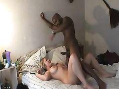 Sexy Curvy White Blonde Fucking Her Black Lover