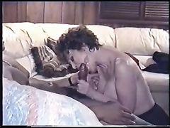 Vintage Genuine Interracial Porn Wife with Black Man Sucking Him