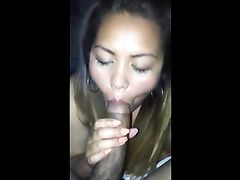 Busted Asian Wife Sucking a Big Black Dick