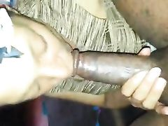 Blowjob in the Hood Black Chick Knows how to Suck that Cock