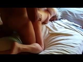 Husband fucks wifes face