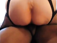 Black Stud Fills Wifes Pussy with Cum and Cuck Hubby Licks Pussy