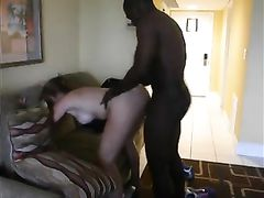 That great sound of pounding as black dude fucks slut housewife